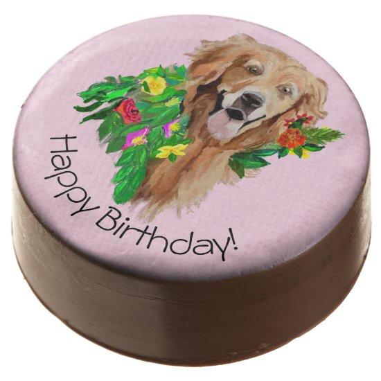 Chocolate Covered Oreo Birthday Golden Retriever