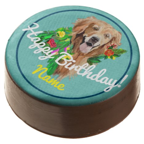 Chocolate Covered Oreo Birthday Golden Retriever