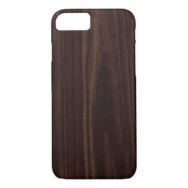 Chocolate Mahogany Dark Wood Grain Texture iPhone 8/7 Case