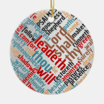 Christian Christmas Psalm 23 Scripture Ceramic Ornament