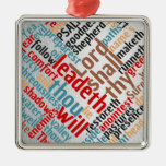 Christian Christmas Psalm 23 Scripture Metal Ornament