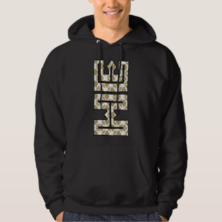 Christian Faux Glitter Gold HE in ME Hoodie