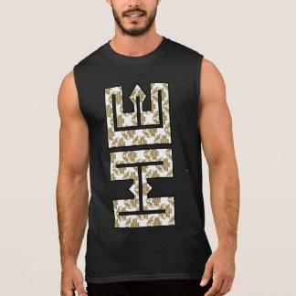 Christian Faux Glitter Gold HE in ME Sleeveless Shirt