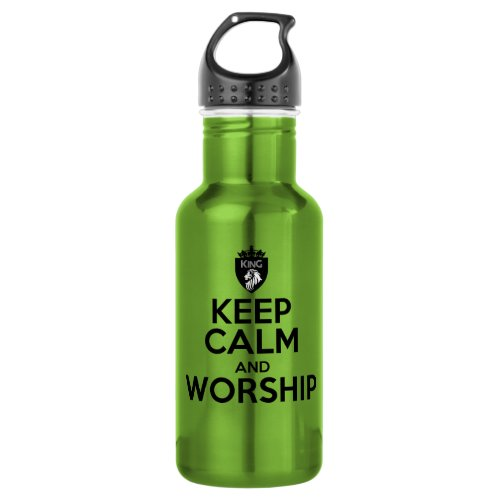 Christian KEEP CALM AND WORSHIP Water Bottle