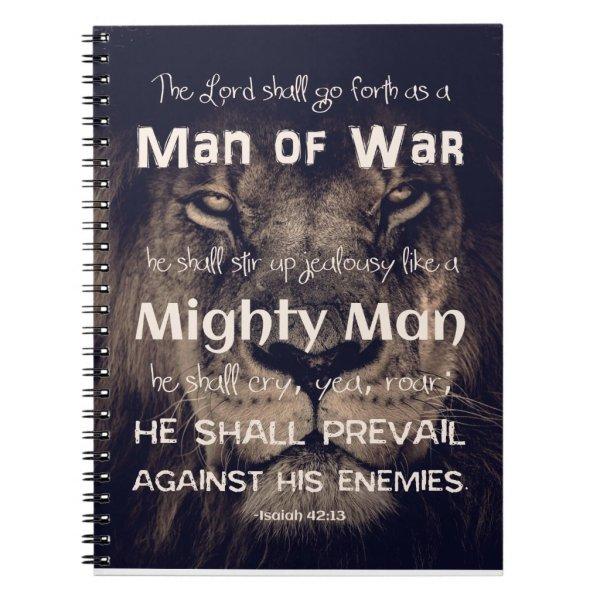 Man of War Scripture Notebook