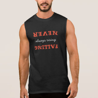 Christian Never Falling Always Rising with Verse Sleeveless Shirt