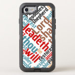 Christian PSALM 23 Colorful Word Art OtterBox Defender iPhone 8/7 Case