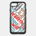 Christian PSALM 23 Colorful Word Art OtterBox Commuter iPhone 8/7 Case