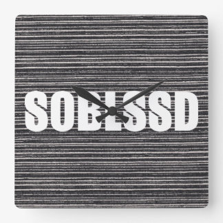 Christian SOBLSSD (So Blessed) Square Wall Clock