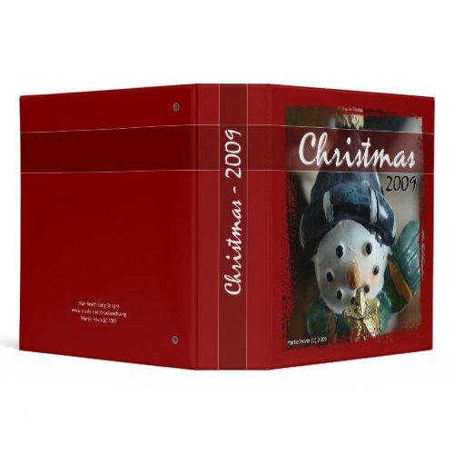 Christmas 2009 - Snowman Binder binder
