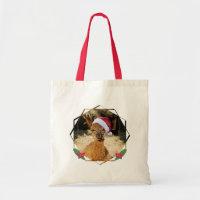 Christmas Animals Alpaca Budget Tote Bag