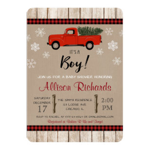 Christmas Baby Shower Invite Arts