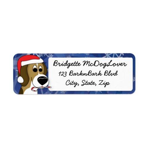 Christmas Beagle Return Address Label