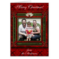 Christmas Bells and Bows Photo Card