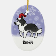 Christmas Border Collie (add your pets name) Christmas Ornament
