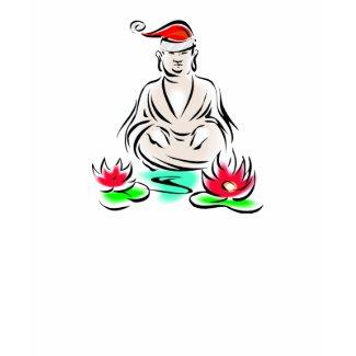 Christmas Buddha Drawing T-Shirt