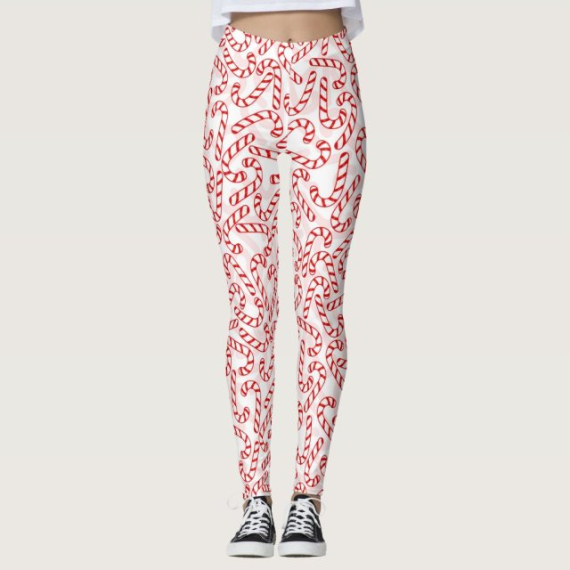 Christmas Candy Canes Leggings