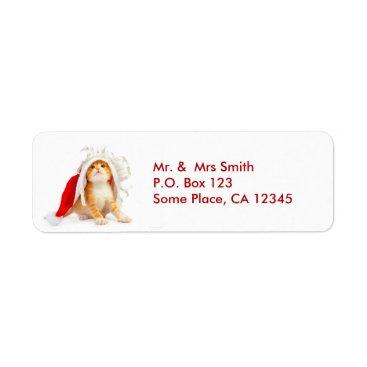 Christmas Cat Address Labels