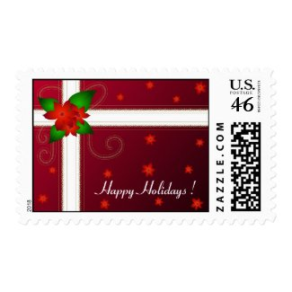 Christmas flowers - Postage ! stamp