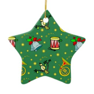 Christmas – French Horns & Magenta Drums ornament