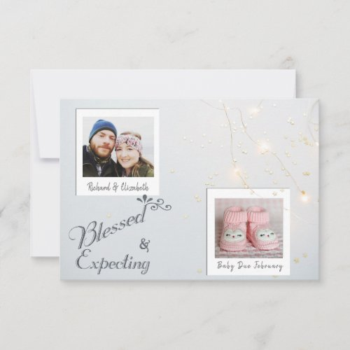 Christmas Holiday Photo Pregnancy Announcement