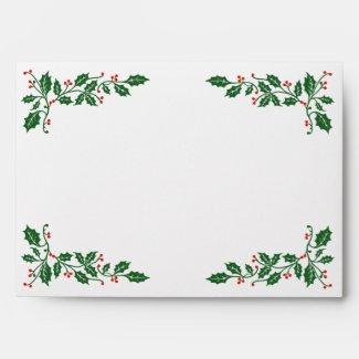 Christmas Holly Berries Envelope