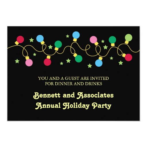 Christmas Lights Party Invitation Zazzle