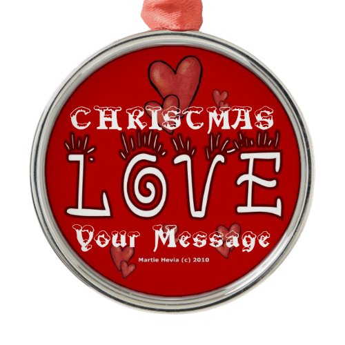 Christmas Love - Customize - Ornament ornament