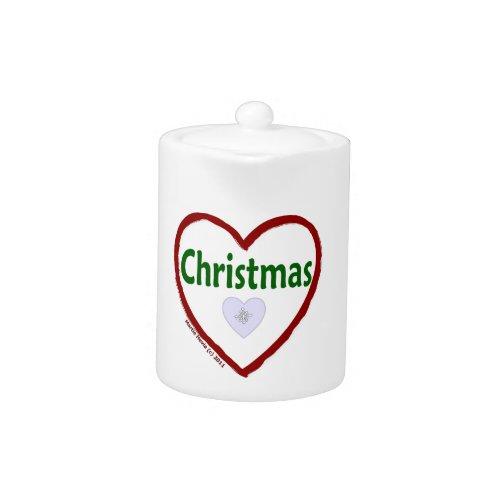 Christmas Love Teapot