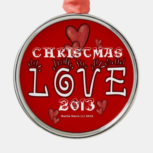 Christmas Love (Year) Ornament
