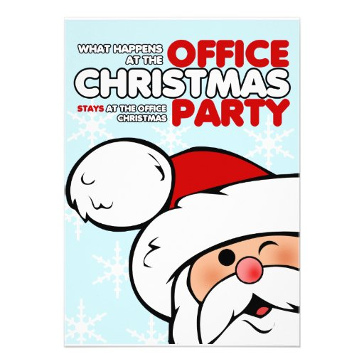 Workplace Christmas Party Invitation