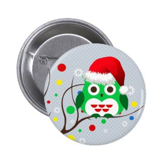 Christmas Owl Trend Buttons