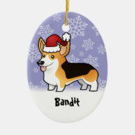 Christmas Pembroke Welsh Corgi (add pets name) Ornament
