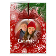 Christmas Photo Globe Greeting Card