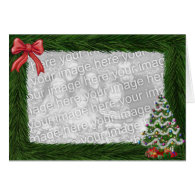 Christmas Pine Frame Photo Card