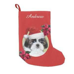 Christmas Shih Tzu dog personalized stocking