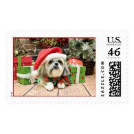 Christmas - Shih Tzu - Gizmo Stamps