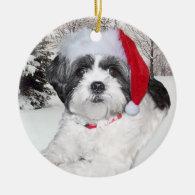 Christmas Shih Tzu Ornament