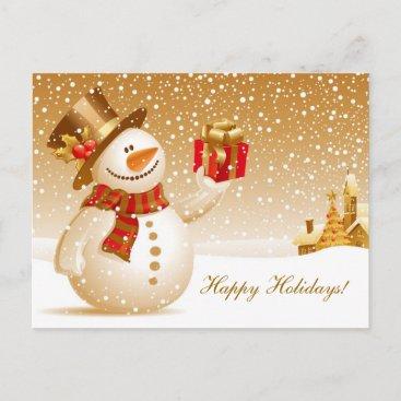 Christmas Snowman Holiday Greetings