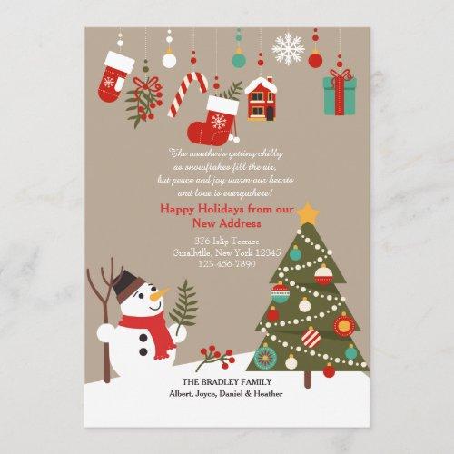 Christmas Snowman Moving Announcement