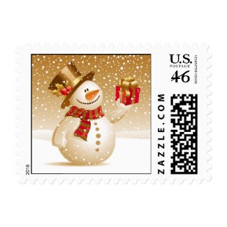 Christmas Snowman Small Postages