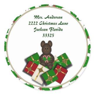 Christmas Teddybear and Address Stickers