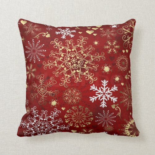Christmas Throw Pillow/Snow Flakes Throw Pillow