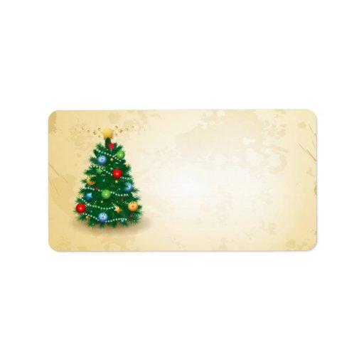Christmas Tree Labels Zazzle