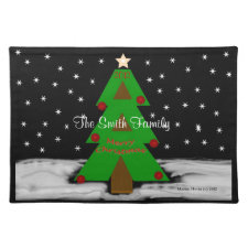 Christmas Tree Night - Personalize Placemats