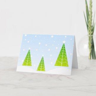 Christmas trees - Card card