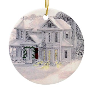 Christmas Victorian House Ornament ornament