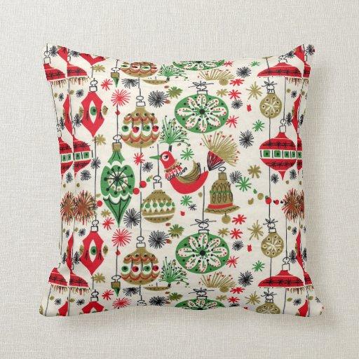 Christmas, Vintage, Retro, Holiday Pattern Pillow