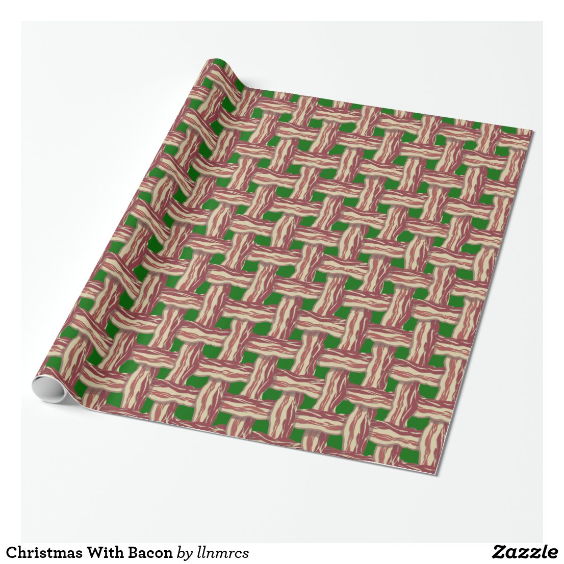 Christmas With Bacon Wrapping Paper