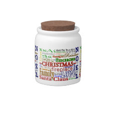 Christmas Word-Art - Candy Jar